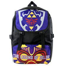 New Legend of Zelda Link Shiel Backpack School bag  Shoulder bag travel bag Blue