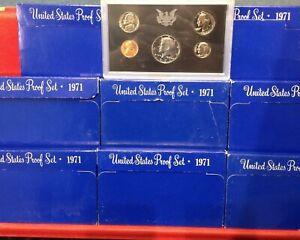 1971 United States US Mint 5 pc Clad Proof Set