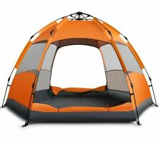 Outdoor 5 Person Quick Automatic Open Camping Double Tents Sunscreen Hexagonal