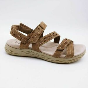 Earth Origins Womens Westfield Wendy Ankle Strap Sandals Brown Suede 8.5M NEW