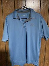 Under Armour Men's heat gear polo Golf shirt light blue large