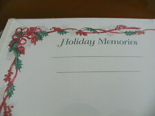 Creative Memories 8x10 Holiday Scrapbook Pages Holiday Border  1 Pkg Each NIP