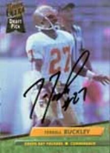 Terrell Buckley - Packers - Signed Trading Card - COA (18728)