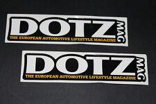 Dotz llantas rims llantas de aluminio Pegatina Sticker Adhesivo decal logotipo en letras Mac