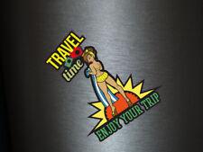 1 x Aufkleber Travel Time Enjoy Your Trip Sticker Sexy Sex Milf Bunny Fun Gag US