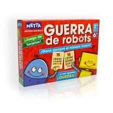 Guerra de Robots Juego de mesa educativo! Juego de Tarjetas! 6+