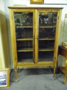 Antique Maple Vitrine  LOCAL PICK UP ONLY