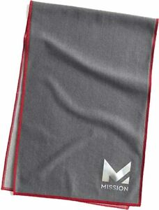 """Mission Max Cooling Towel 11"""" X 33""""  - Charcoal"""