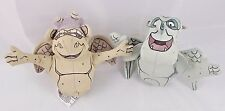 "Disney Hallmark Gargoyle Hunchback Notre Dame Hugo Victor Bean Plush 4"" Lot of 2"