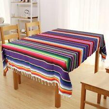Mexican Table Runner Tablecloth Rug Serape Blanket Wedding Birthday USA STOCK