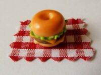 DOLLS HOUSE MINIATURE FOOD * FULLY FILLED BREAKFAST BAGEL * COMBINED P+P