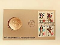 1975 Bicentennial First Day Cover with Paul Revere Medal & 4 .10 Cent Stamps