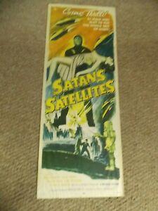 "SATAN'S SATELLITES(1958)LEONARD NIMOY ORIGINAL INSERT POSTER 14""BY36"" ROLLED"