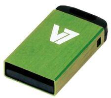 V7 Nano 8GB USB 2.0 Flash Stick Pen Memory Drive - Green