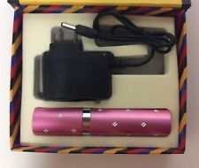 Mini Stun Gun PINK w/ Faux Jewels 3.8 Million Volt w/ 100 Lum LED Flashlight NIB