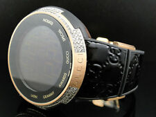New Mens I Gucci Digital XXL Latin Grammy Rose Gold Diamond Watch 3 Ct YA114102