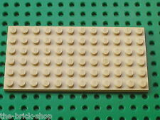 LEGO Plaque Plate 6 x 12 Tan ref 3028 / Set 10123 6490 & 7110