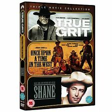 True Grit, Once Upon A Time In The West, Shane – Triple Play (DVD) New & Sealed