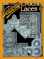 Weldon's 6D #88 c.1930 Vintage Crochet Patterns for Lace Edgings Household Linen