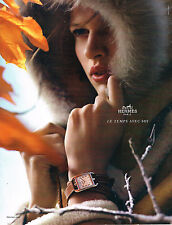 "PUBLICITE ADVERTISING  2012   HERMES  HORLOGERIE "" le temps avec soi"""