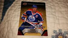 2015 UPPER DECK NATIONAL SPORT CONVENTION PROMINENT CUTS VIP WAYNE GRETZKY CARD