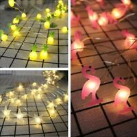 Flamingo String Light 2M LED Baby Birthday Party Decor Pineapple Party Supply TY