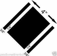 """4"""" Wide with 3/8"""" Sides Racing Stripe Vinyl Decal For Cars Trucks Autos"""