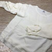 TT-3 RENVY Ruffle sleeve sweater IVORY size M nwot