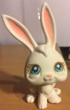 Littlest Pet Shop #3 White Bunny Rabbit Long Ears With Blue Eyes, 2004, Hasbro
