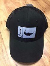 BRAND NEW COSTA DEL MAR MESH ADJUSTABLE CAP HAT ORIGINAL PATCH MARLIN BLACK