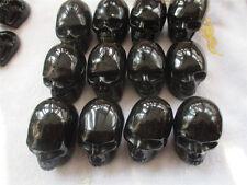Crystal skull black obsidian small finely carved 1pcs  60-65g