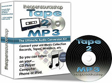 Tape 2 MP3 - Transfer Cassette Tapes, MiniDiscs to MP3 or CD - 3m Kit + FREE CD