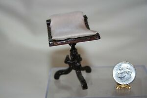 Miniature Dollhouse Vintage Bespaq Harp or Vanity Stool Needs Minor TLC 1:12 NR