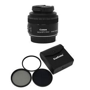 Canon EF-S 35mm f/2.8 Macro IS STM + KamKorda Filter Kit 49mm - UK NEXT DAY DEL