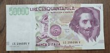 ITALY BANKNOTE 50000 LIRE 1992  LC296096V