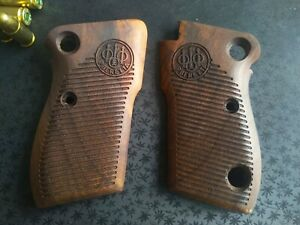 Beretta M 1951 walnut wood grips Helwan 951 tariq brigadier High-quality gripset
