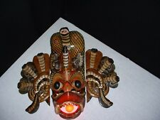 Vintage Sri Lankan Raksha mask made into a table lamp