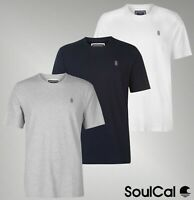 Mens SoulCal Short Sleeves Crew Neck Top Signature T Shirt Sizes from S to XXXL