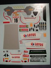 DECALS 1/43 FORD FIESTA RS WRC #16 KUBICA - MONTE CARLO 2015 - COLORADO 43255