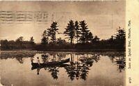 Vintage Postcard - 1909 Scene On Spicket River Methuem Massachusetts  #3106