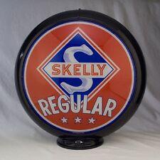 Skelly Regular Gas Pump Globe Red Blue White Glass Lenses Gas Oil Station Sign S