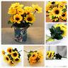 6 Head Artificial Sunflower Bouquet Silk Fake Flowers Wedding Party Home Decor