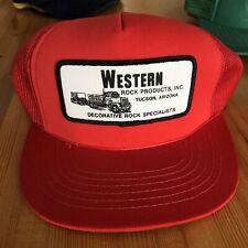 Vintage Western Rock Hat Red Trucker