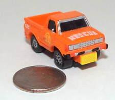 Small Micro Machine Datsun Fire Dept Pickup Truck in Orange marked Rescue