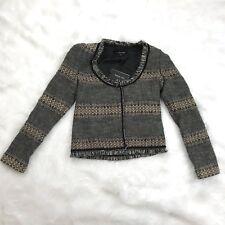 Patrizia Pepe Firenze Women's Virgin Wool Tweed Jacquard Jacket Blazer 40 Small