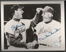 STAN MUSIAL CARDINALS DUKE SNIDER DODGERS SIGNED 8X10 PHOTO JSA AUTHENTIC AUTO