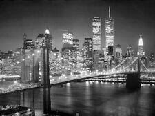 photo art twin towers new york manhattan world trade centre b&w 60x80 print