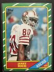 1986 topps Jerry Rice #161