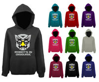 Mens Robots In Disguise Transformers Funny Face Pullover Hoodie NEW UK XS-XXL