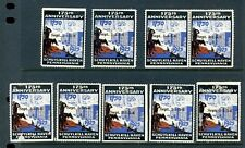 9 VINTAGE 1750-1925 SCHUYLKILL HAVEN, PA 175TH ANNIVERSARY POSTER STAMPS (L512)